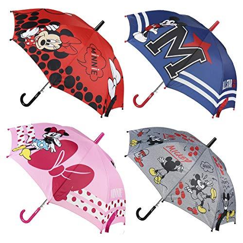 CERDÁ LIFE\'S LITTLE MOMENTS 2400000515_T45C-C04 Paraguas Automatico Niño de Mickey Mouse - Licencia Oficial Disney Studios, Rosa y Azul, 70 x14 x18 cm para Niños