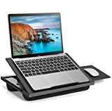Adjustable Lap Desk - with 8 Adjustable Angles & Dual Cushions Laptop Stand for Car Laptop Desk,...