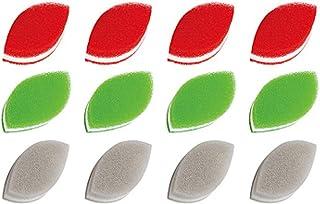 ダスキン スポンジ 抗菌タイプ (台所用) 12個入り 台所 キッチン用 キッチンスポンジ 油汚れ 長持ち (リーフ型3色セット)×4