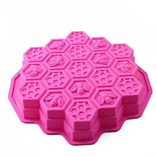 Moldes de Pastel/repostería/pan/hielo de panal de abeja moldes para hornear silicona molde alimentos anti adhesiva color Random