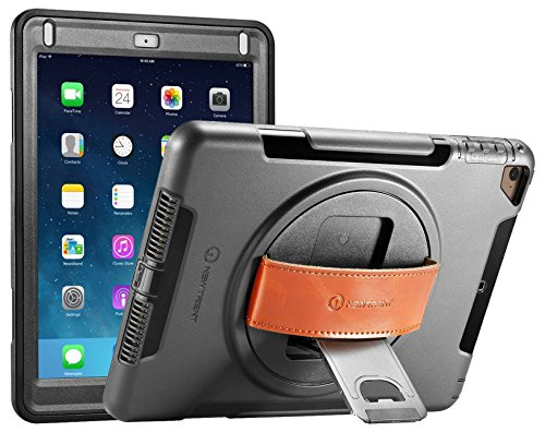 New Trent iPad 9.7 Case 2018 (6th gen)/ 2017 (5th gen), 9.7 iPad Air 2 / iPad Air, Heavy Duty Gladius Full-Body Rugged Protective Case with Built-in Screen Protector & Dual Layer Design