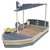 Sandkasten Boot Krabbe XXL aus Holz - Schiff