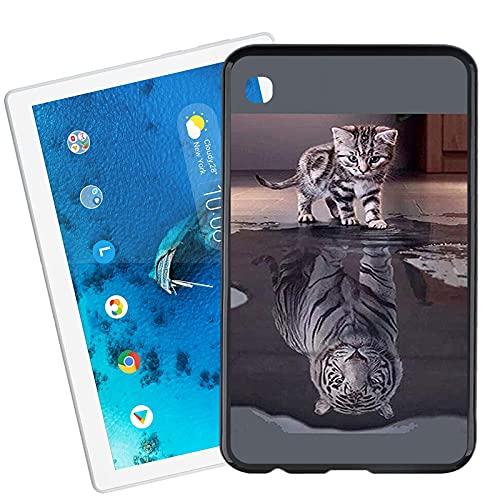 JIENI Funda para Samsung Galaxy Tab A7 Lite Cover (8.4 Pulgadas), Black Carcasa Silicona, Suave Anti-rasguños Caso TPU Bumper para Samsung Galaxy Tab A7 Lite Case - Reflexion
