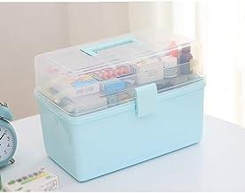 MU Boîte de Rangement portative à la Maison en Bois Massif, boîte à médicaments Boîte à Outils Multicouche Grand Outil de ...