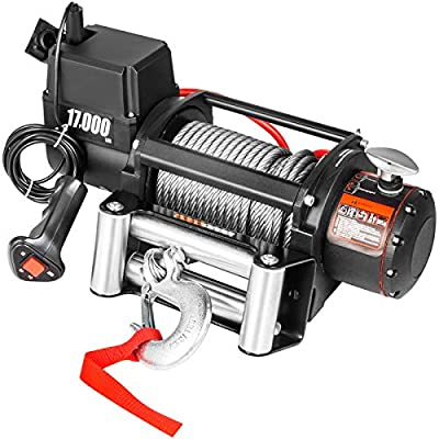 VEVOR Truck Winch 17000LBS, Electric Winch 85ft, Steel Cable 12V, Power Winch Jeep Winch with Wireless Remote Control and Powerful Motor for UTV ATV Jeep Truck and Wrangler Accessories in Car Lift