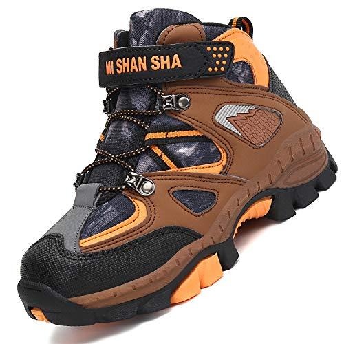 Mishansha Botas de Senderismo para Niños Calor Invierno Zapatillas de Trekking Botas...