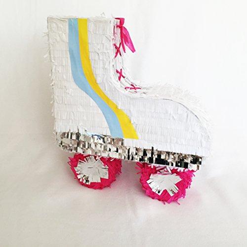 Peppige Rollschuh Piñata mit Silber Glänzenden Elementen im 80er Jahre Stil