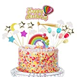 Sunshine smile Rainbow Cake Toppers,Arco Iris Decoración de Pasteles,Cupcake Topper Set,A...
