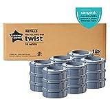 Tommee Tippee Sangenic Recambios Sistema avanzado para desechar pañales Twist and Click, paquete de 18 Unidades (compatibles con los contenedores Sangenic TEC y Twist and Click)