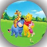 Fondant Tortenaufleger Tortenbild Geburtstag Winnie Pooh T2