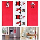 Tinksky Navidad Refrigerador Manija de Puerta Cubiertas Horno de Microondas Lavavajillas Electrodomésticos de Cocina Guantes de Protección Porta Paño Protector Pack 3pcs
