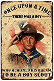 YuanTao The Handsome Boy Scout Funny Tin Sign Bar Pub Diner Cafe Wall Decor Home Decor Art Poster Retro Vintage 8x12 Inches
