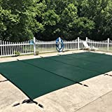 WaterWarden Inground Pool Safety Cover, Fits 20' x 38', Green Mesh...