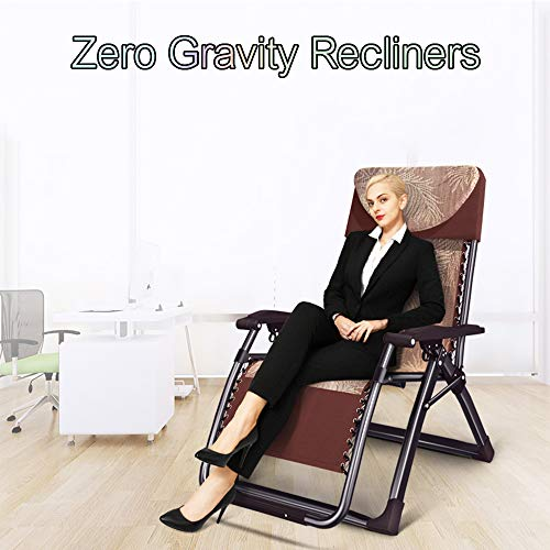 Zero Gravity LoungeChair with Tray,Folding Garden Reclining Chairs,Recliner,Adjustable Sun Loungers,can Support 500lbs,Grey,Black Chaise