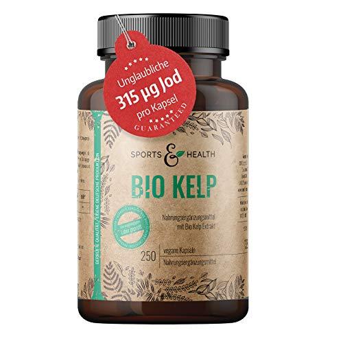 Kelp Bio Mit Kelp Extrakt Enthält 315 µg Natürliches Jod Und Iodine Aus Braunalge - Sea Kelp Mit 250 Jod Tabletten - Vegan