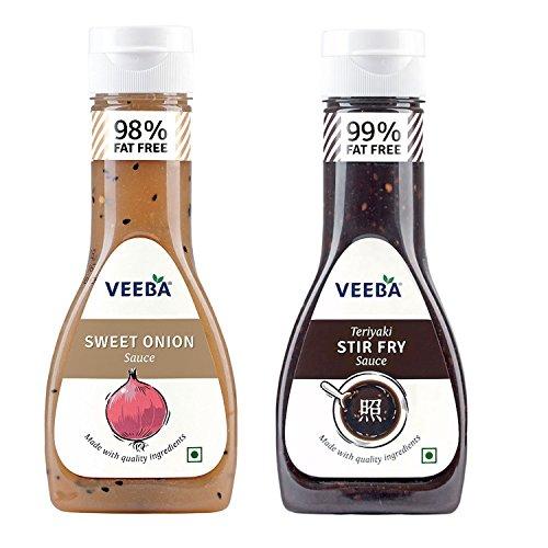 Veeba Sweet Onion Sauce 350g + Teriyaki Stir Fry Sauce 350g
