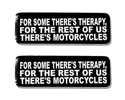 Hot Leathers, 2 x 4 SOME THERE'S THERAPY - Bikers Motorcycle Helmet, Sticker DECAL (Pair) - 4'