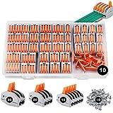 Conectores eléctricos rapidos 80 piezas, estancos Conectores de cableado de cables Kits d...