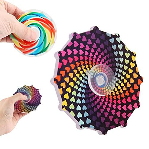 Dan&Dre Doble cara dedo Spinning Top nuevo color caramelo dedo Spinning Top juguete colorido impreso giratorio descompresión juguete Gyro juguete para bebé