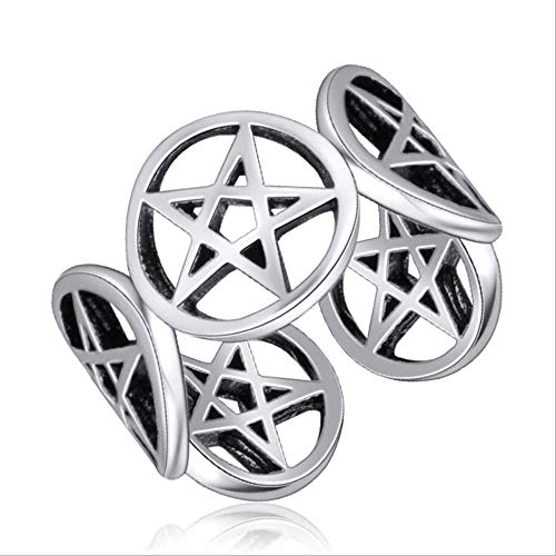 Pentagram Pentacle Ring Re-sizable Sterling Silver Sabrina Teenage Witch Hocus Pocus Satanist Satan Spooky Halloween Horror Lucifer Sigil Satanic Goth Horror Witchcraft Goth Gothic (PNTGRMRNG)