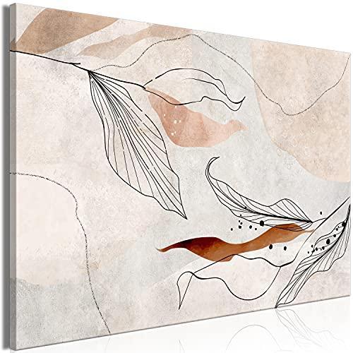 murando Quadro Fogliame 120x80 cm 1 pezzo Stampa su tela in TNT XXL Immagini moderni Murale Fotografia Grafica Decorazione da parete Astratto come dipinto Natura Botanico b-C-0895-b-a