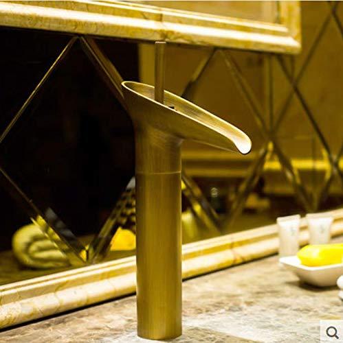 Kupfer antikes Weinglas Becken Becken Wasserhahn Haushalt Bad Waschbecken heißer und kalter Wasserhahn Retro