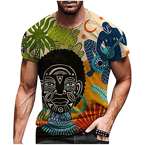 Nuevo 2021 Camiseta Hombre Verano Manga corta 3D animal Impresión Moda Casual T-shirt Blusas camisas Camiseta originales Cuello redondo hombre suave básica camiseta Tops deportiva