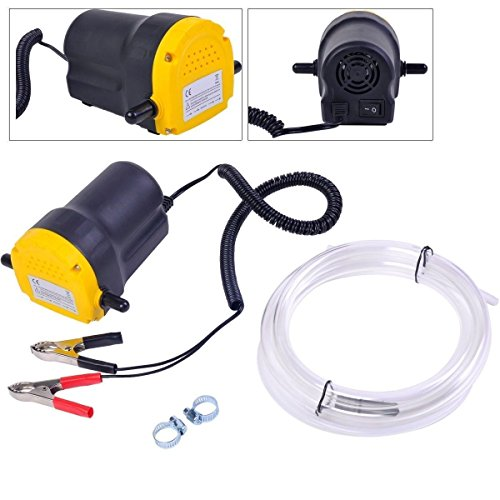 Amarine Made 12V 60W Oil Change Pump Extractor, Oil/Diesel Fluid Pump Extractor Scavenge Oil Change Pump Transfer Suction Transfer Pump + Tubes Truck Rv Boat ATV
