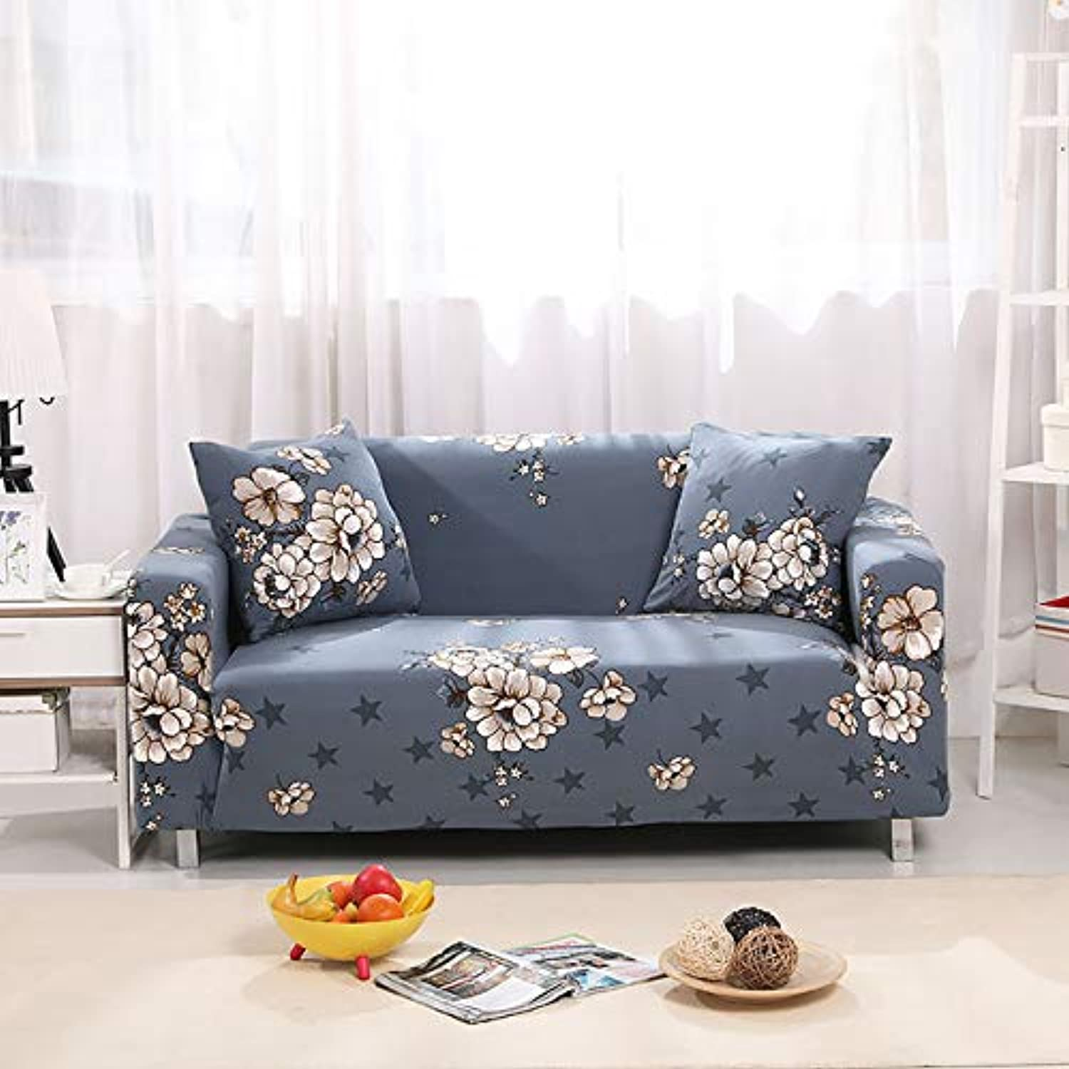 Navy bluee Sofa Cover Tight All-Inclusive Slipcover Elasic Furniture Predector Wrap Single Double Three Four-Seat Sofa Covers 1pc   color 3, 1 seat (90-140cm)
