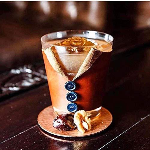 Sektgläser Beiläufig Anzug Whiskyglas Kristallglas Weinglas Coaster Cover Jacke Lostgaming (Color : Brown)