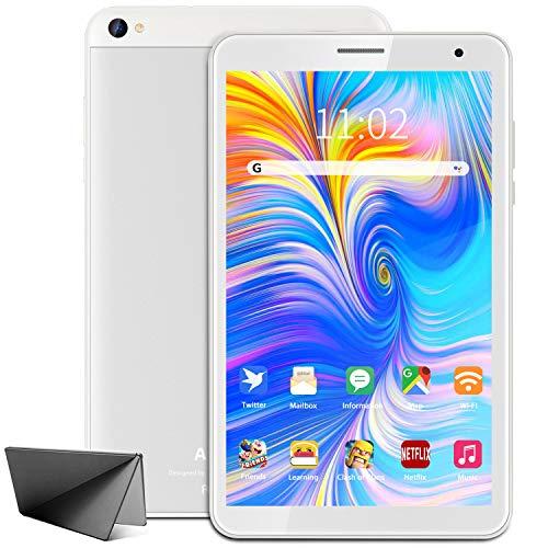 Tablet de 8 pulgadas Android 10 Google Tablet PC, 3 GB de RAM, 32 GB de ROM/128 GB ampliable, Quad Core, Google GMS Certificado, Dual Cámara, HD IPS Pantalla 5000 mAh, Type C, WiFi, Bluetooth
