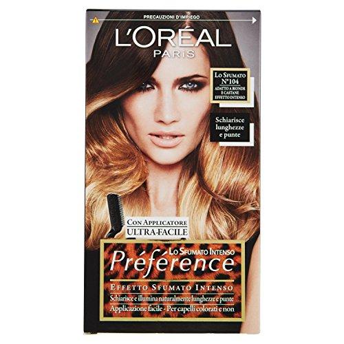 L'Oréal Paris Préférence Lo Sfumato, Colorazione Effetto Sfumato, Intenso 104 Bionde e Castane