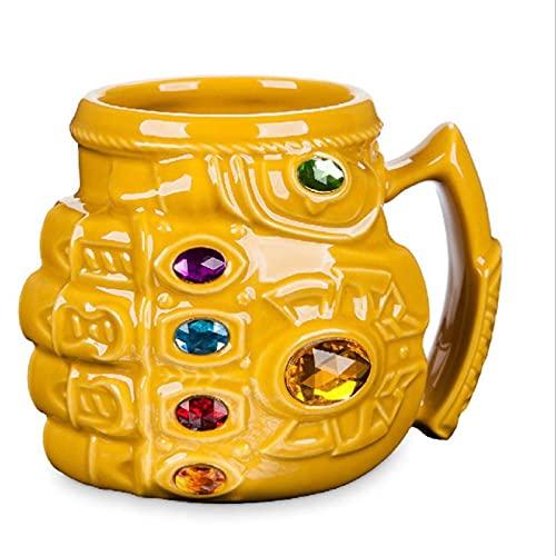 XINGYU Avengers Infinity Gauntlet Mug, Taza De Café De Cerámica, Diseño Humanizado De Gran Capacidad, Antideslizante, Interior Sólido para Regalo Y Oficina del Hogar