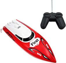 Electric Racing Boat, 2011-15A High Speed Infrared Remote Control 4CH Electric Racing Water Speed Boat Toy for Adults and Kids of All Ages, Rc Toy For Pools And Lakes (Red)