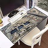 Luoquan Alfombrilla Raton Grande Gaming Mouse Pad,Detalle de Venecia Italia,Impermeable Alfombrilla Gruesa de Goma Antideslizante para ratón