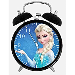 Frozen Elsa Twin Bells Alarm Desk Clock 4 Home Office Decor A471 Nice for Gifts