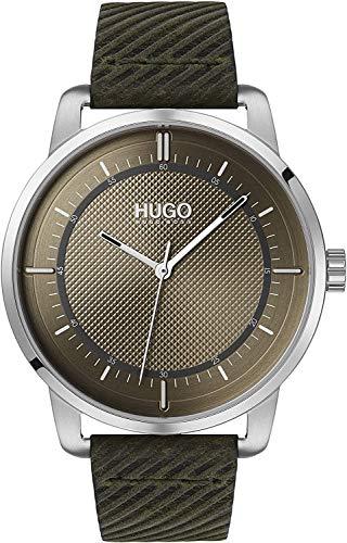 HUGO Mixte Adulte Analogique Quartz Montre avec Bracelet en Cuir 1530101