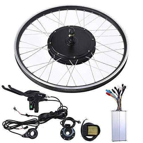 Xinwoer Elektrisches Mountainbike LCD-Display Motor Kit E-Bike-Umbau 8V 1500W 700C Rad, LCD-Meter-Unterstützung Bahngeschwindigkeit, Kilometerstand, Getriebedaten(Front Drive)
