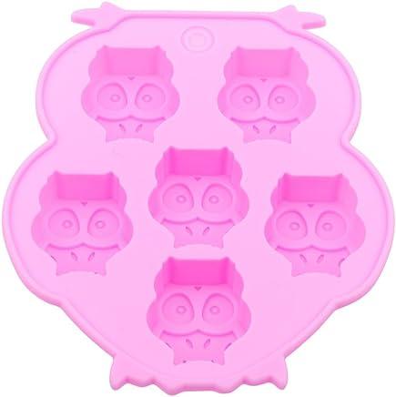 VWH Pink Owl Cake Mould Chocolate Fondant Mold Soap Molds Baking Molds