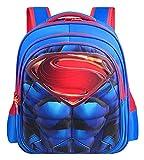 Impermeable Mochila Primaria del hombre araña del bolso de escuela niños estudiante de la escuela de superhéroes Mochila 3D Shell duro Bookbag Niños El almuerzo Mochila, Capitán América Blue-L (43 * 2
