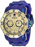 Invicta Pro Diver Gold/Blue 48mm Silicone/SS Band Reloj de cuarzo...