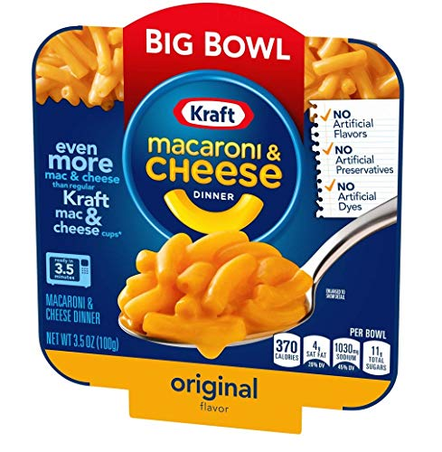 Kraft macaroni and cheese, 3.5 oz. Microwavable Bowl (Pack of 6)
