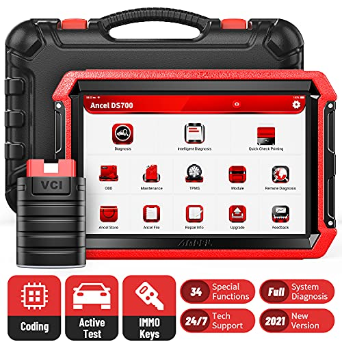 ANCEL DS700 BiDirectional Diagnostic Scan Tool, All Systems OBD2 Scanner Car Code Reader with 34...
