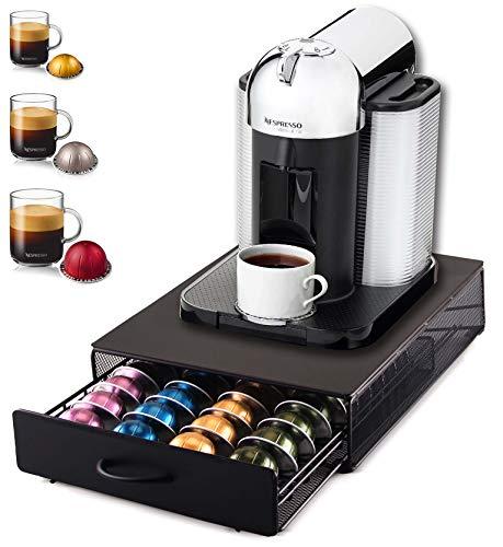 Ever Rich ® Kaffeekapseln Aufbewahrungsschublade Für Vertuoline Nespresso-Kapseln (40)