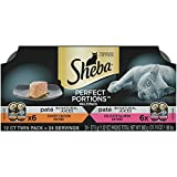Sheba Perfect Portions Multipack Savory Chicken And Delicate Salmon...