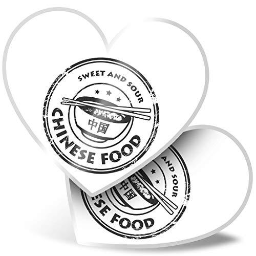 Impresionante pegatinas de corazón de 15 cm – BW – Sabroso comida china China Restaurant Fun calcomanías para computadoras portátiles, tabletas, equipaje, libros de chatarra, frigorífico, regalo genial #40668