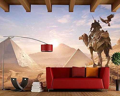 Wxlsl 3D Tapete Kamele Warriors Ägypten Sunrises Und Sonnenuntergänge Fototapete, Wohnzimmer Tv Hintergrund Kinderzimmer Studie Bar 3D Benutzerdefinierte Wandbilder-150cmx105cm