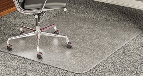 deflecto 60 x 60 Clear ExecuMat Intense All Day Use Chair Mat for High Pile Carpet
