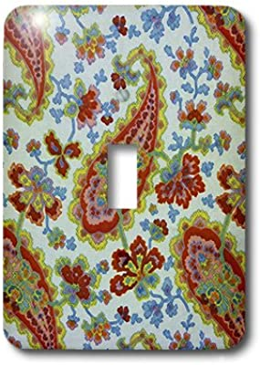 3D Rose LSP/_237154/_2 White Lace Butterflies Over Burgundy Red Background Double Toggle Switch