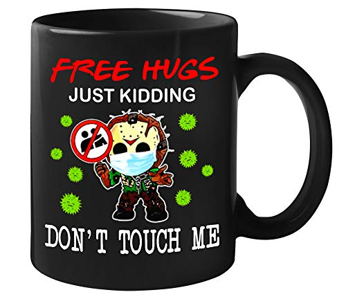 Jason-Voorhees Chibi free Hugs Just Kidding Dont Touch Me, Coffee Mug 11oz and 15oz